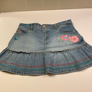 Paris Blues jewel embellished denim skort size 12